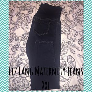 2 Liz Lang Maternity Dark Wash Jeans